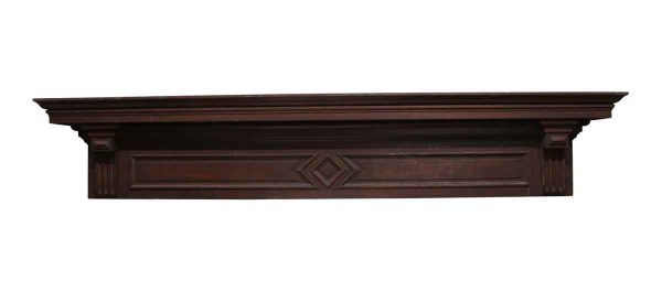 Moldings - 77.25 in. Dark Wood Tone Oak Header