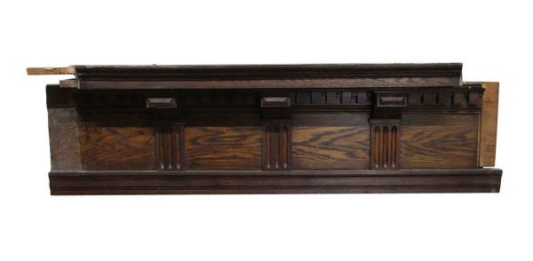 Moldings - Oak Crown Molding with Decorative Carved Details