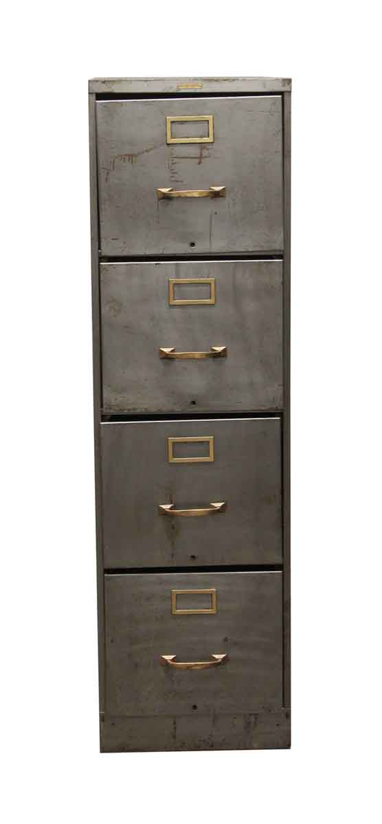 Office Furniture - Steelcase Stripped Steel Cabinet with Four Drawers