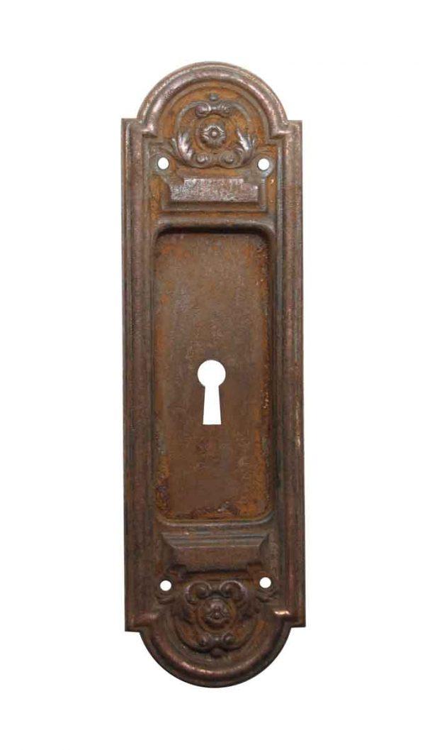 Pocket Door Hardware - Cast Iron Pocket Door Handle with Keyhole