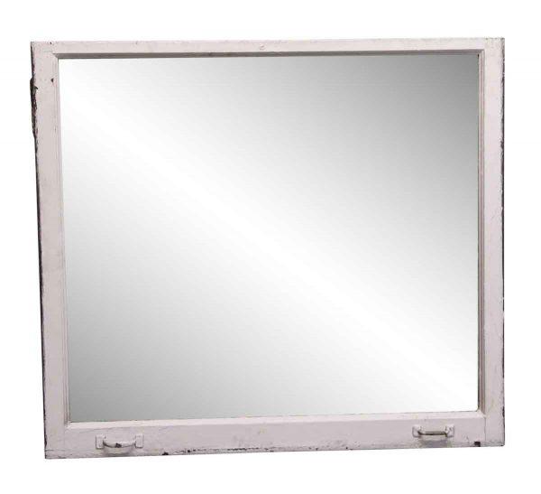 Reclaimed Windows - 51 x 57 Copper Clad Plate Glass Bottom Window