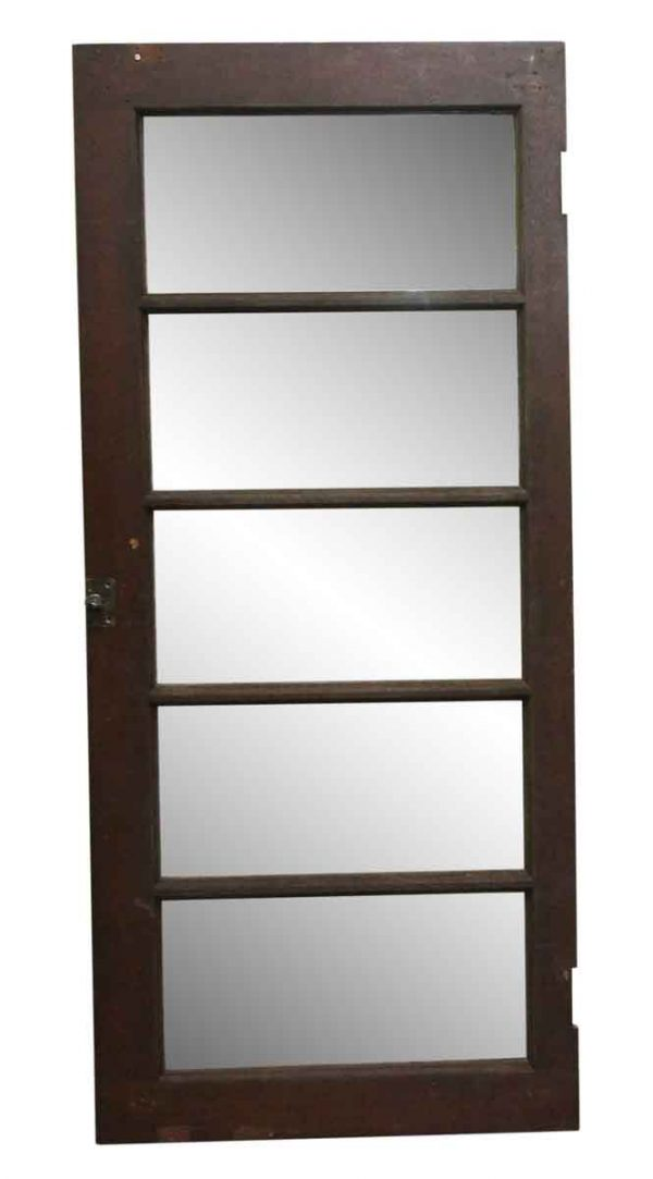 Reclaimed Windows - 61.25 x 27 Dark Wood Tone Transom Window