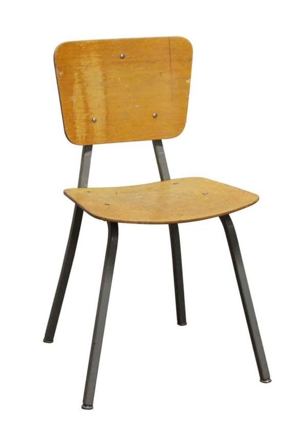 Seating - School Chair with Gray Metal Legs from Rose Hill