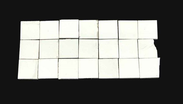 Wall Tiles - 2 x 2 Plain White Wall Tile Set