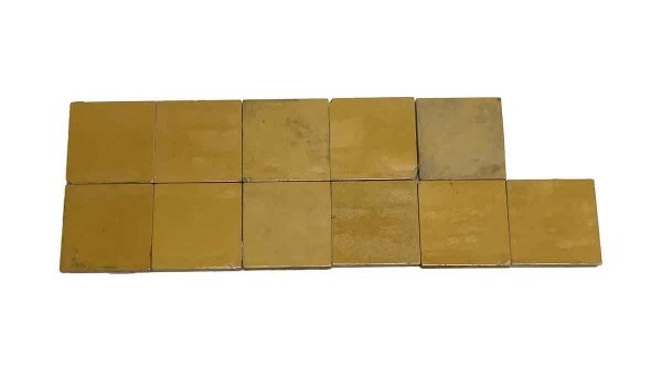 Wall Tiles - 4.25 in. Antique Mustard Yellow Wall Tile Set