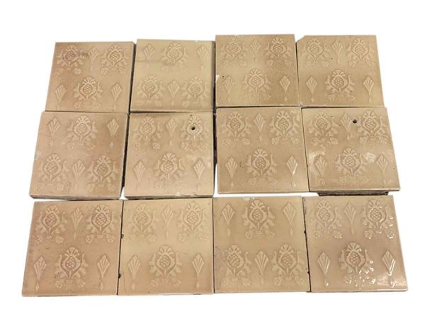 Wall Tiles - Antique Cambridge Tan Decorative Tile Set