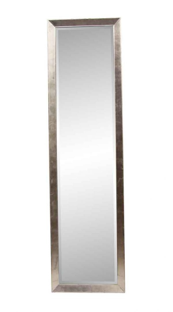 Antique Mirrors - 9 ft Silver Leaf Narrow Beveled Floor Mirror