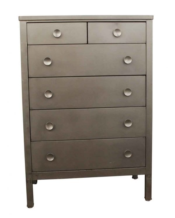 Bedroom - 1930s Lacquered Steel Dresser with 6 Drawers