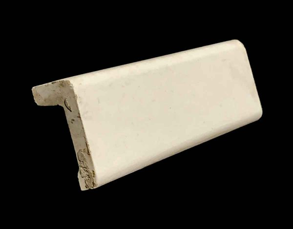 Bull Nose & Cap Tiles - 0.25 in. Thick Square Edge Off White Cap Tile