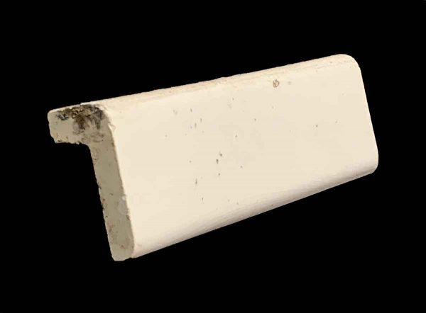 Bull Nose & Cap Tiles - 0.375 in. Thick Square Edge Off White Cap Tile