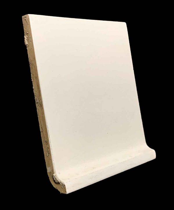Bull Nose & Cap Tiles - 5.825 Square Off White Inside Corner Baseboard Tile