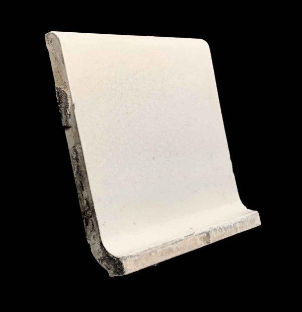 Bull Nose & Cap Tiles - 5.875 in. Square White Inside Corner Baseboard Tile