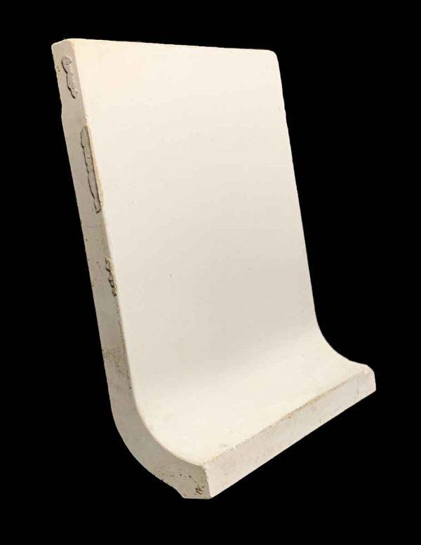 Bull Nose & Cap Tiles - 5.875 x 6.5 White Baseboard Tile