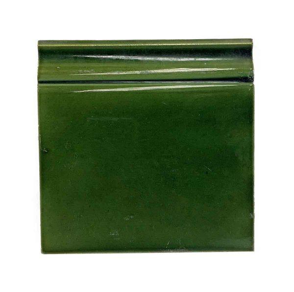 Bull Nose & Cap Tiles - Antique Green 6 x 6 Baseboard Tile