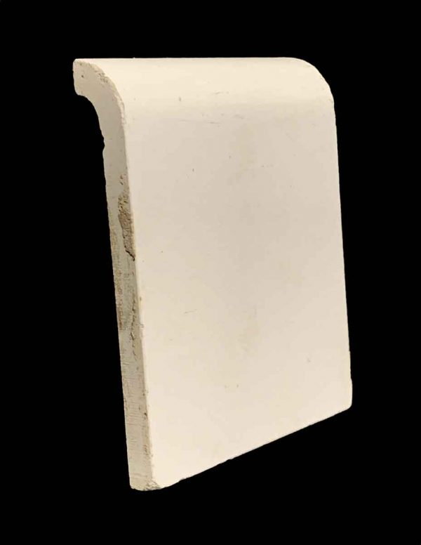 Bull Nose & Cap Tiles - Off White 4.25 x 5 Outside Corner Baseboard Tile