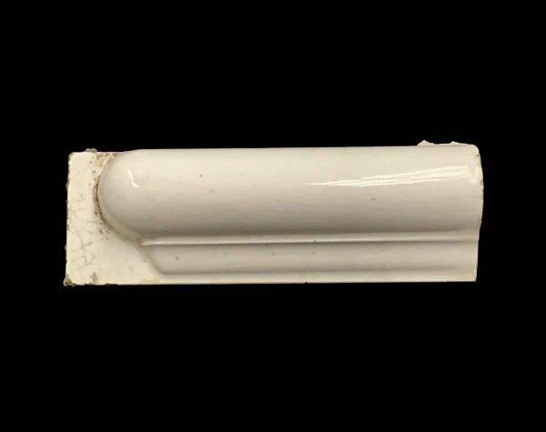 Bull Nose & Cap Tiles - Off White Round Edge End Piece Tile