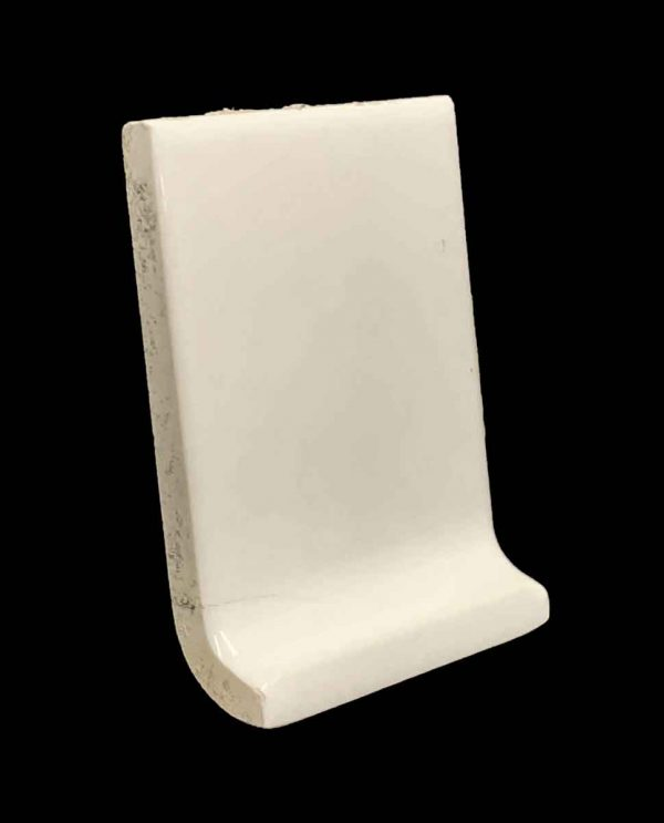 Bull Nose & Cap Tiles - White 3.75 x 3 Inside Corner Baseboard Tile