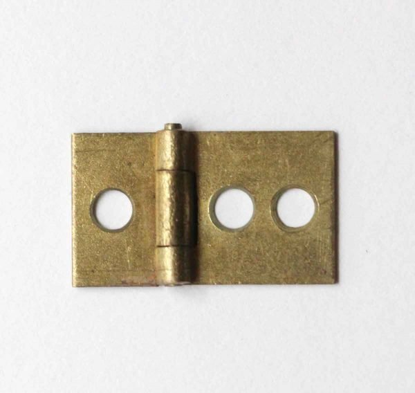 Cabinet & Furniture Hinges - Brass 3 Hole 0.625 x 1 Cabinet Hinge