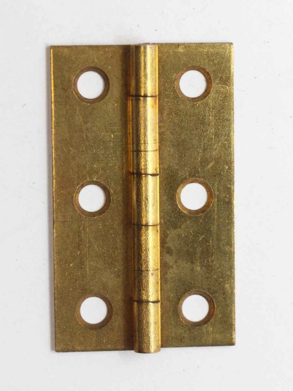 Cabinet & Furniture Hinges - Brass Plated Steel 2.25 x 1.375 Butt Cabinet Hinge