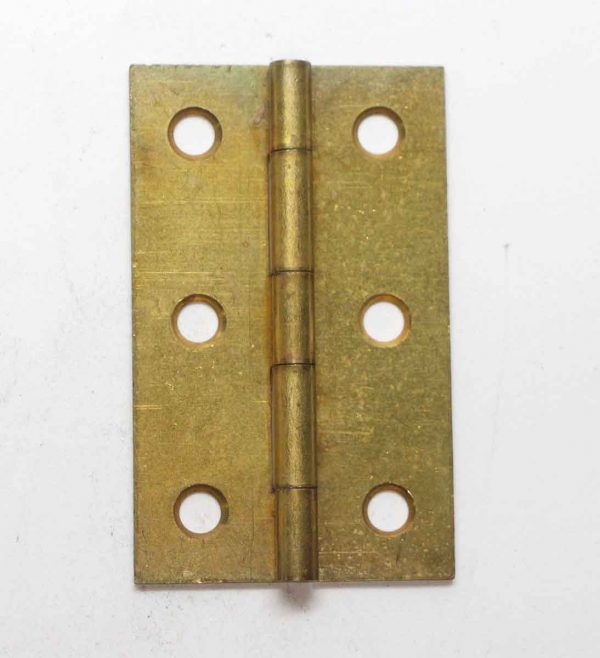 Cabinet & Furniture Hinges - Brass Plated Steel 2.75 x 1.6875 Butt Cabinet Hinge