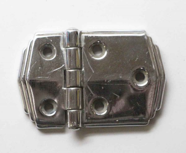 Cabinet & Furniture Hinges - Chrome Art Deco Surface Cabinet Hinge