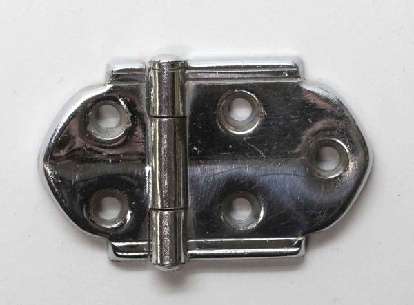 Cabinet & Furniture Hinges - Chrome Plated Steel Art Deco Surface Cabinet Hinge