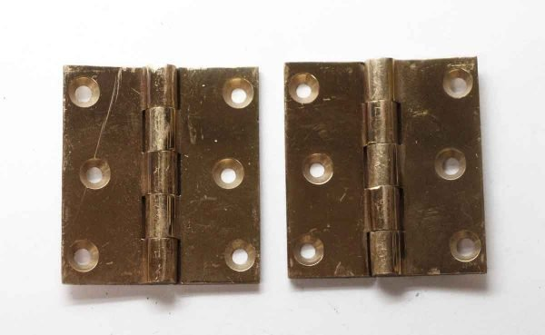 Cabinet & Furniture Hinges - Pair of Brass Corbin Butt Hinges