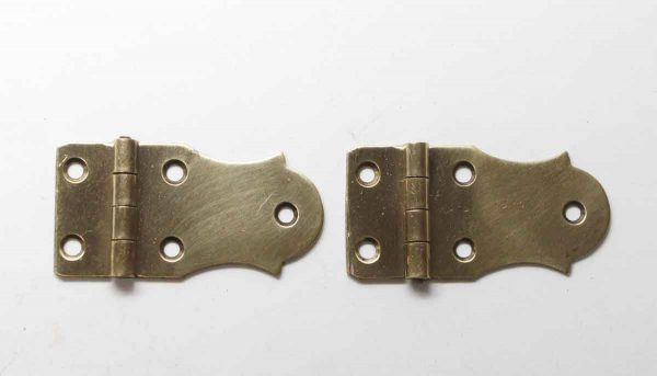 Cabinet & Furniture Hinges - Pair of Brass Face Mount Cabinet Hinges