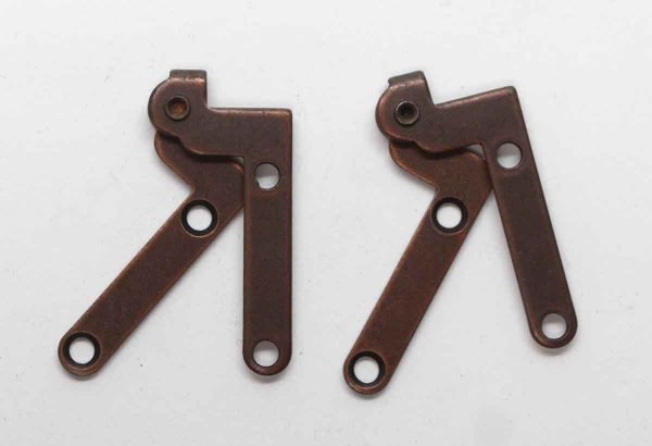 Cabinet & Furniture Hinges - Pair of Brass Plated Steel Knife Cabinet Hinges
