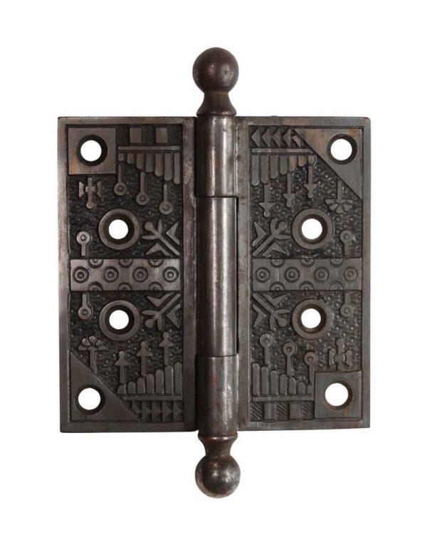 Cabinet & Furniture Hinges - Steel 4 x 4 Aesthetic Ball Tip Butt Door Hinge