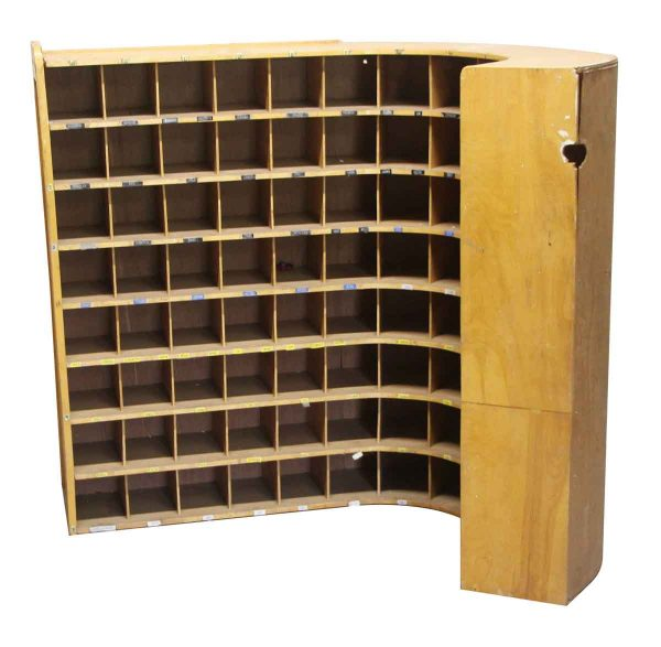 Commercial Furniture - Curved Library Card Pingeon Hole Cubby Cabinet