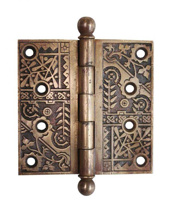 Door Hinges - Aesthetic Brass 4 x 4 Ball Tip Butt Door Hinge