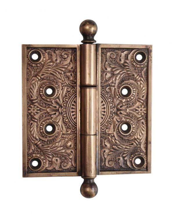 Door Hinges - Aesthetic Brass 4.5 x 4.5 Ball Tip Butt Door Hinge