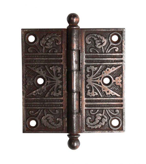 Door Hinges - Antique Ball Tip 3.5 x 3.5 Cast Iron Butt Door Hinge