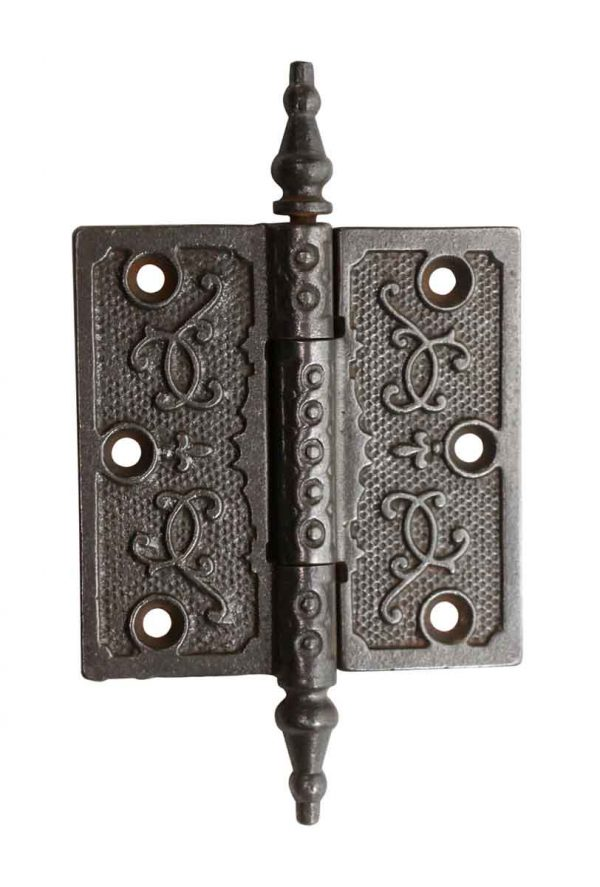 Door Hinges - Antique Steeple Tip 3.5 x 3.5 Cast Iron Butt Door Hinge