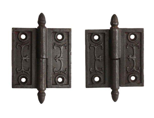 Door Hinges - Pair of 2.5 x 2.5 Victorian Left Cast Iron Butt Door Hinges