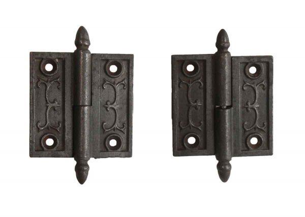 Door Hinges - Pair of 2.5 x 2.5 Victorian Right Butt Door Hinges
