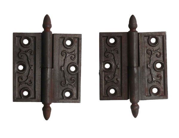 Door Hinges - Pair of 3 x 3 Victorian Cast Iron Butt Door Hinges