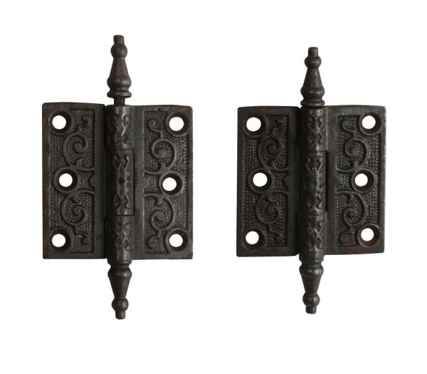 Door Hinges - Pair of Victorian 2.5 x 2.5 Cast Iron Butt Door Hinges