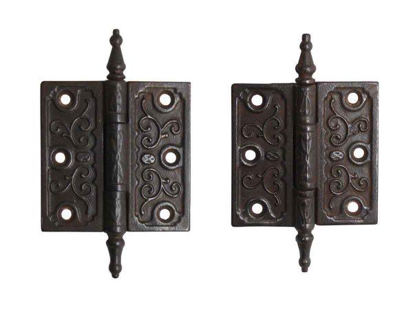 Door Hinges - Pair of Victorian 3.5 x 3.5 Cast Iron Butt Door Hinges