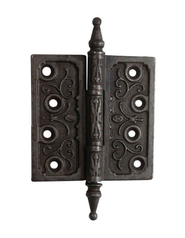 Door Hinges - Victorian Cast Iron 4 x 4 Steeple Tip Antique Butt Door Hinge