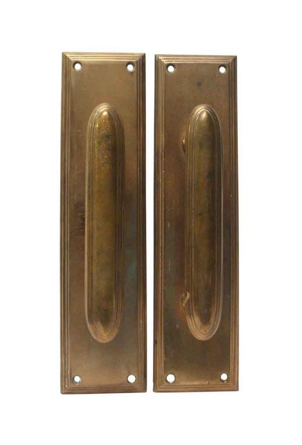 Door Pulls - Pair of Art Deco Bronze Chantrell Door Pulls