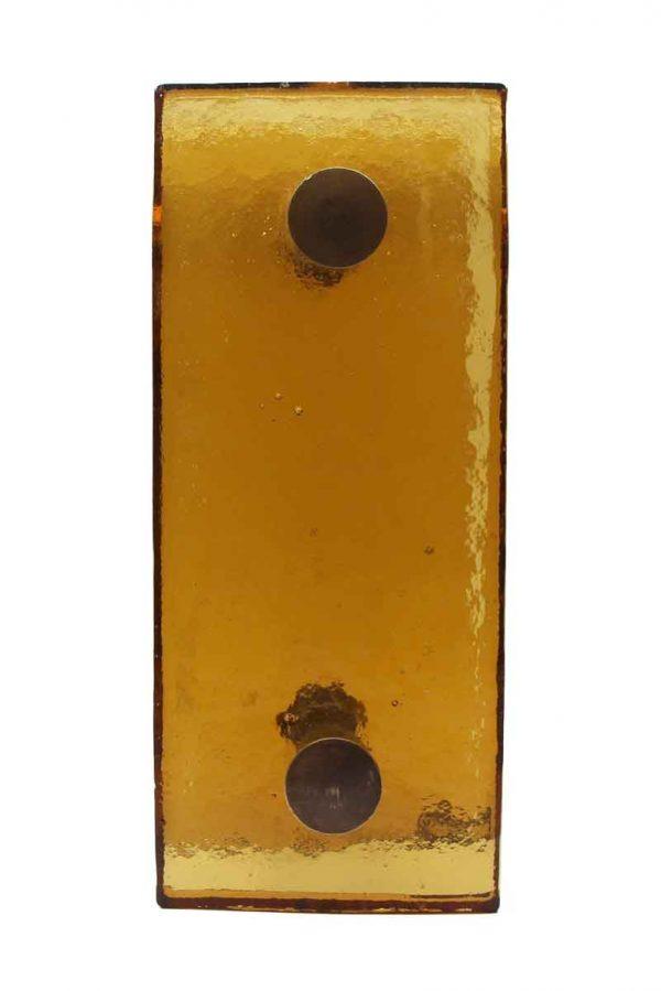 Door Pulls - Pair of Mid Century Amber Glass Door Pulls