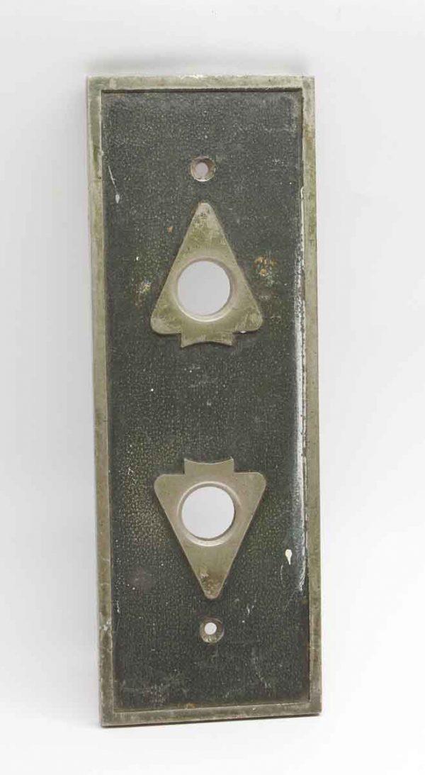 Elevator Hardware - Antique Art Deco Bronze Elevator Plate