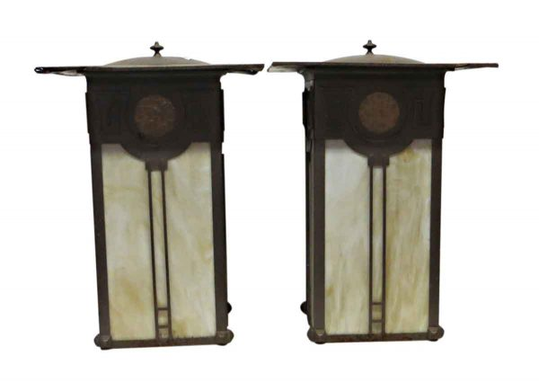 Exterior Lighting - Pair of Arts & Crafts Outdoor Sconces