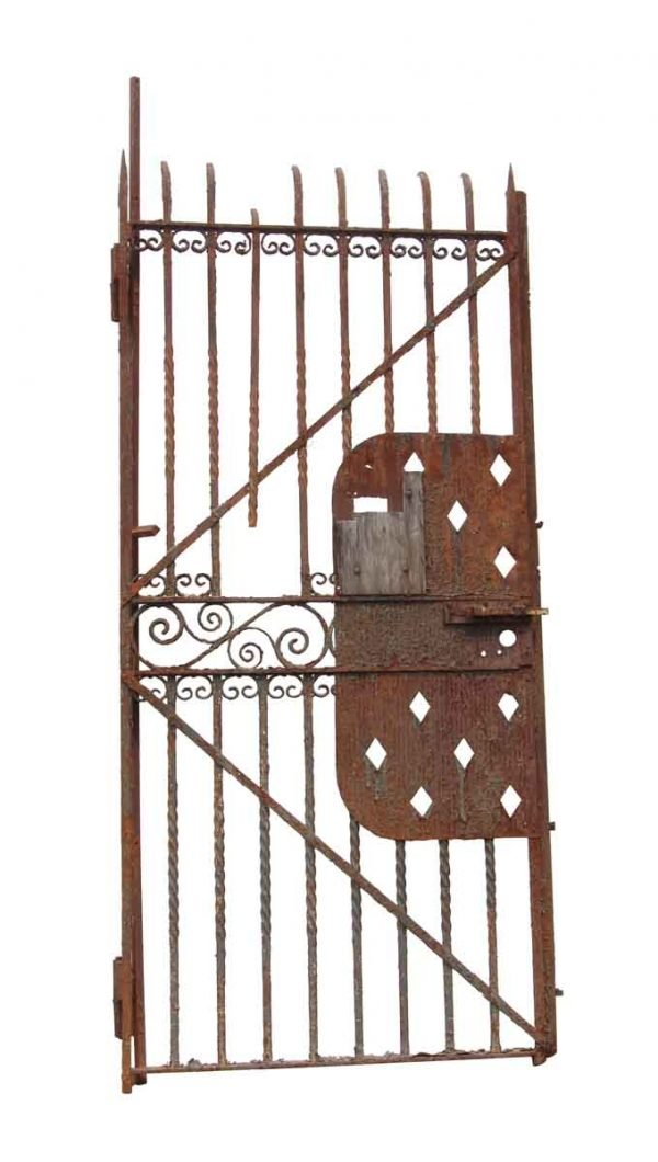 Gates - Rusted Wrought Iron Gate or Door