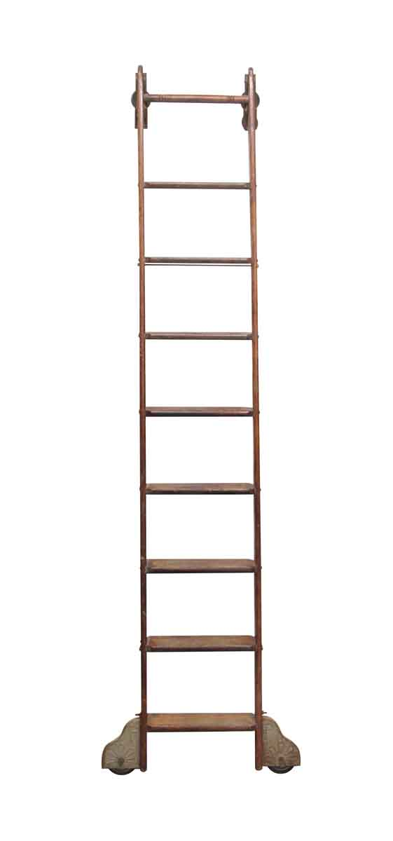 Ladders - Vintage Oak Putnam Library Ladder