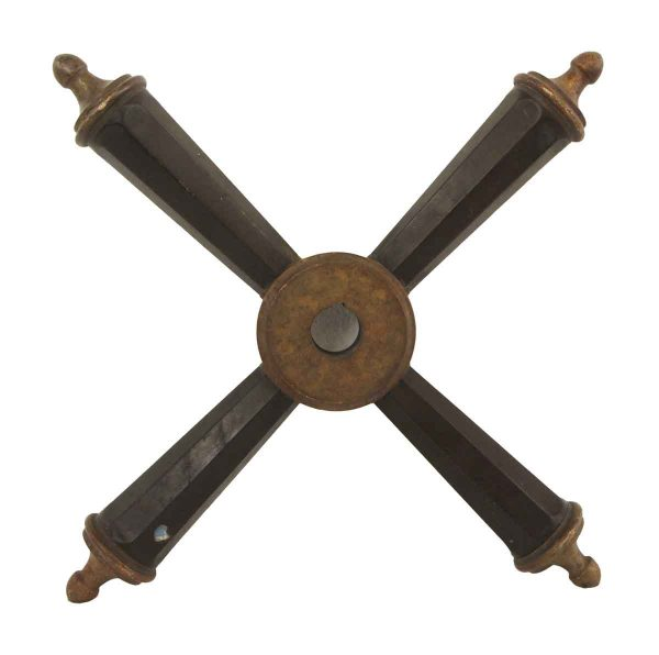 Levers - Bronze & Wood Bank Vault Handle