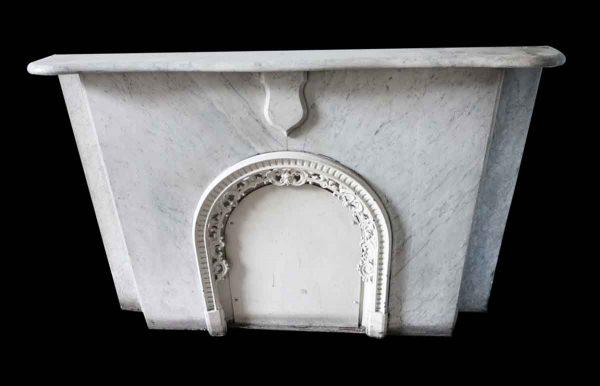 Marble Mantel - Simple New York Brownstone Carrara Marble Mantel