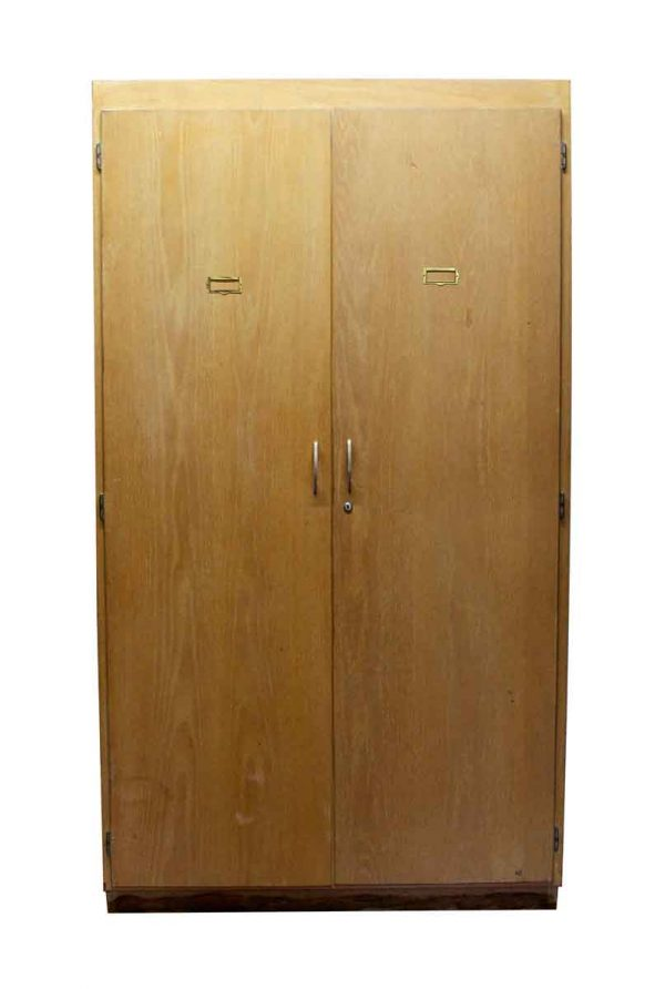 Office Furniture - Large 2 Door Architects Map Cabinet with Pine Shelves